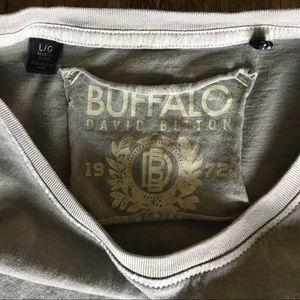 Buffalo David Bitton Shirts - MENS Buffalo David Bitton   soft gray and leather